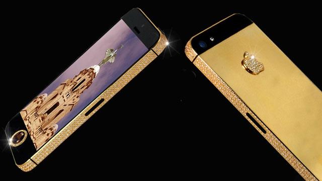 האייפון (5) היקר ביותר בעולם - מצופה ביהלומים. בקרוב יהיה חסר ערך? עוד נראה.  מקור: Tech.Firstpost
