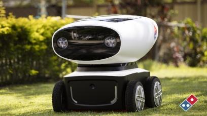 רובוט המשלוחים של דומינוס פיצה. במקור מ- Delapage